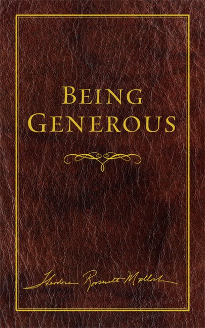 Being Generous book cover, published by Templeton Press