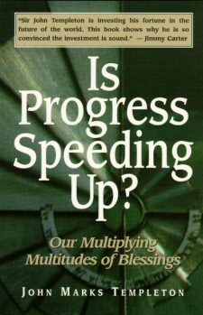 Is Progress Speeding Up book cover, published by Templeton Press