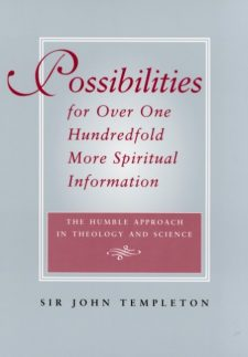 Possibilities for Over One Hundredfold More Spiritual Information book cover, published by Templeton Press