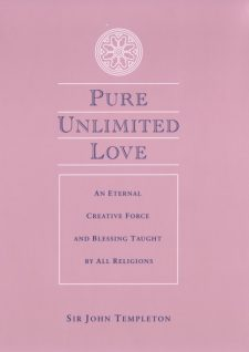 Pure Unlimited Love book cover, published by Templeton Press