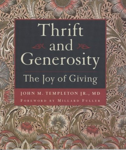 Thrift and Generosity, book published by Templeton Press