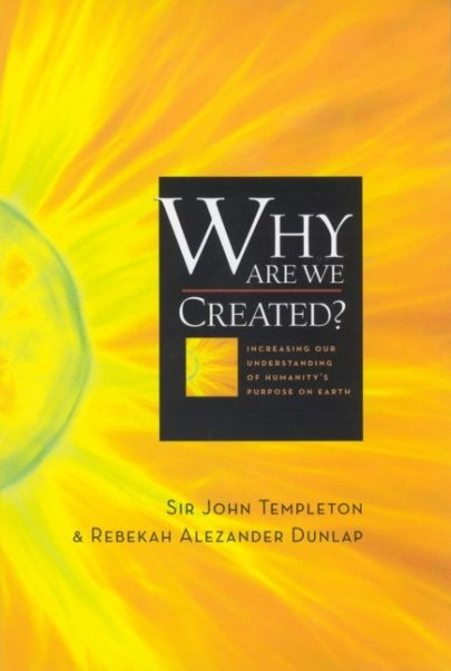 Why are we created, book published by Templeton Press